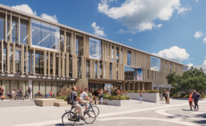 Artist's impression of the Manawatū Library building