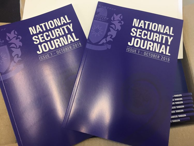 Picture of First Issue of the National Security Journal
