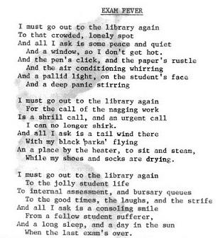 exam poem