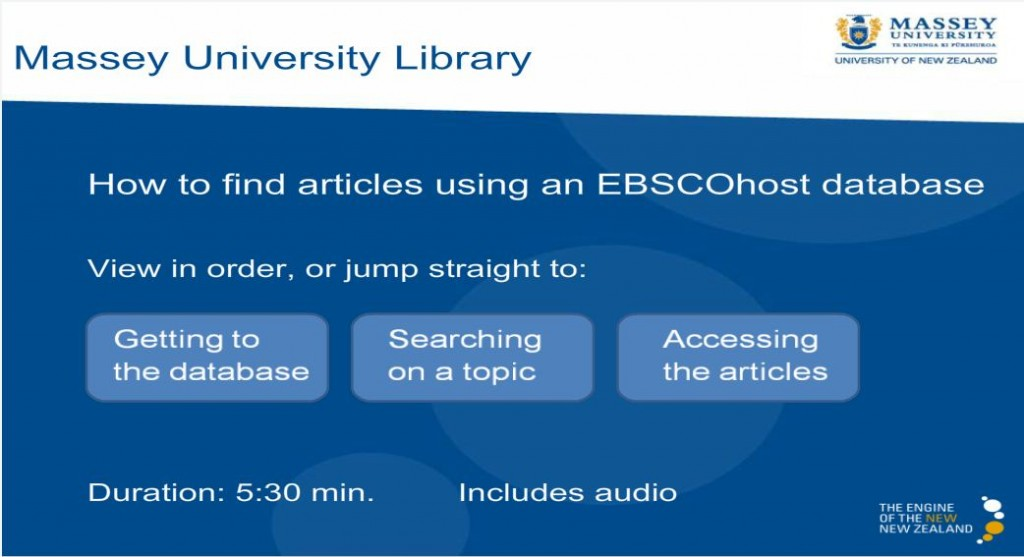 How to find articles using an EBSCOhost database