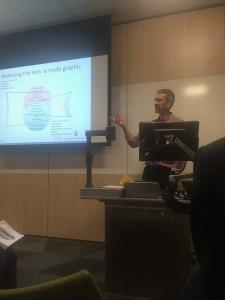 Glenn presenting on 'Reversing the Lens' at the RGS-IBG conference.